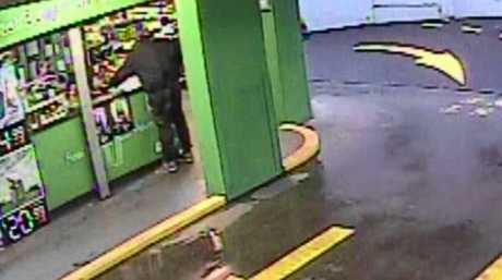 Police have released CCTV footage of an armed robbery at a Nambour drive through bottle shop on October 13.