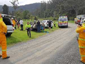Emergency services rush to scene of 4WD roll-over
