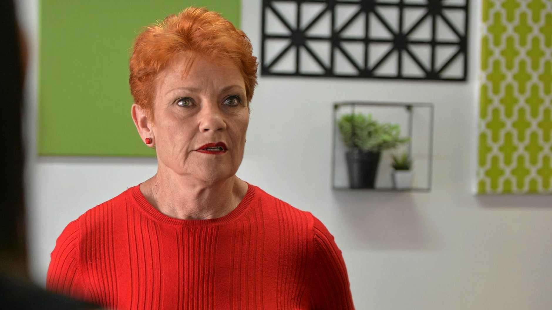 One Nation Senator Pauline Hanson met with community members at the Sarina RSL yesterday.