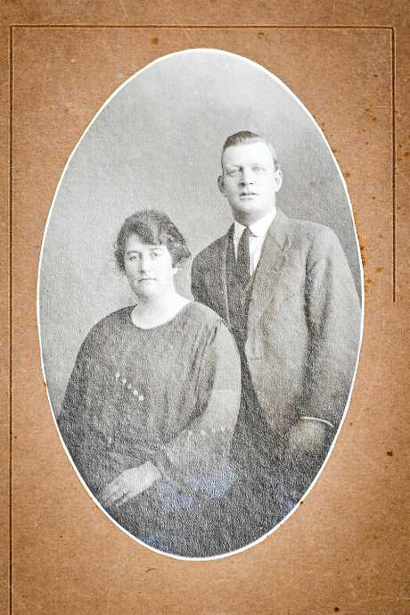 Mark Frost's great grandfather Richard O'Brien and wife Annie Breslin. Richard O'Brien helped build the courthouse between 1940-42.