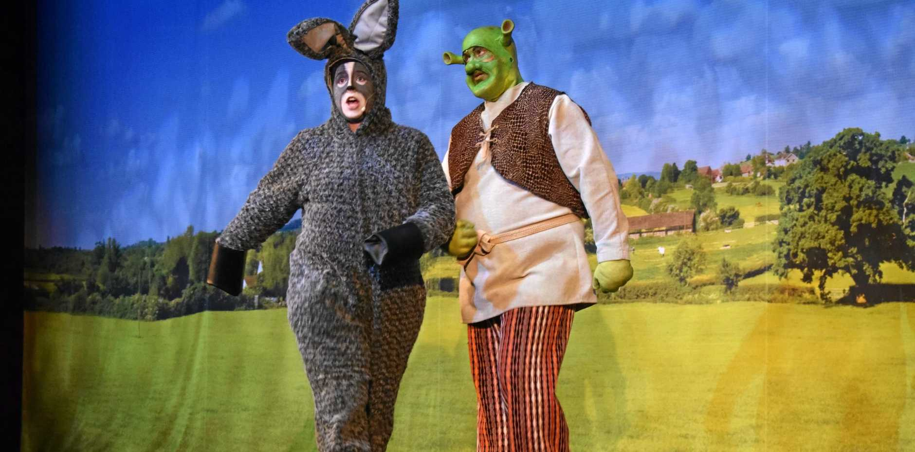 Shrek The Musical opens at The Pilbeam Theatre on Friday night featuring Rockhampton Musical Union Youth Choir and Dean Netherwood as Shrek.