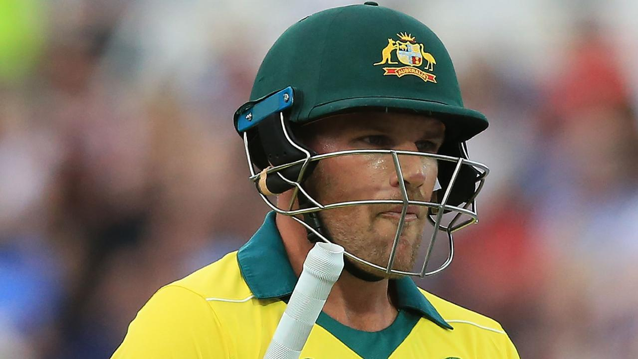 Australian skipper Aaron Finch's three ball duck triggered another batting collapse.
