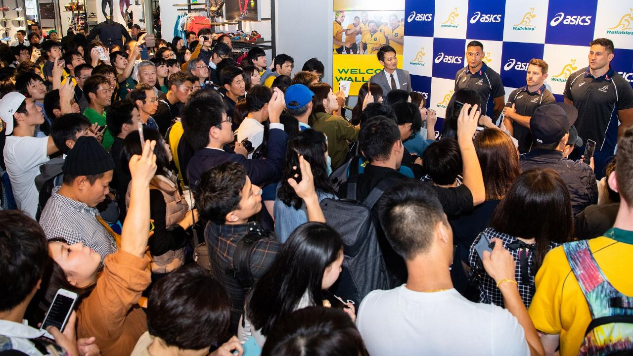 The Wallabies caused a scene in Tokyo. Photo: Stuart Walmsley/Rugby AU Media