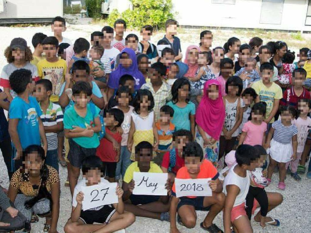 Some of the children who have been detained on Nauru. Picture: supplied