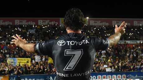 Johnathan Thurston has said farewell to the Townsville faithful. Picture: Zak Simmonds