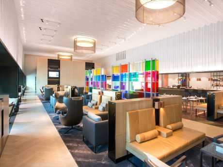 A look inside the Qantas Chairman's Lounge at Melbourne Airport.