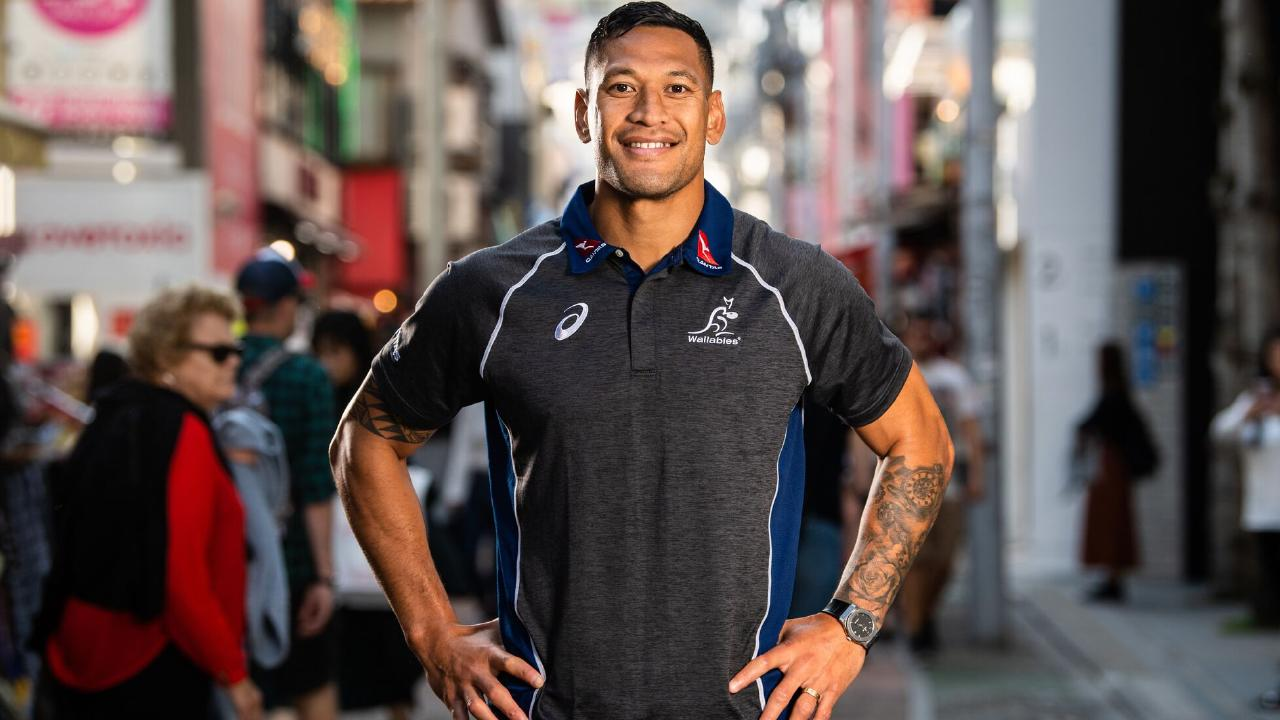 Israel Folau out and about in Tokyo. Photo: Stuart Walmsley/Rugby AU Media