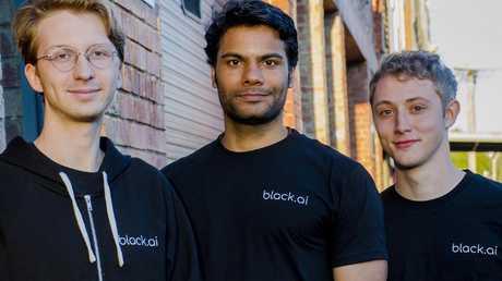 black.ai founders (from L — R) Sebastien Collier, Karthik Rajgopal, Keaton Okkonen.