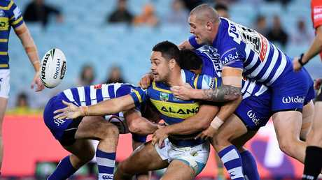 Jarryd Hayne's form for Parramatta improved in the latter part of last season. Picture: Dan Himbrechts/AAP