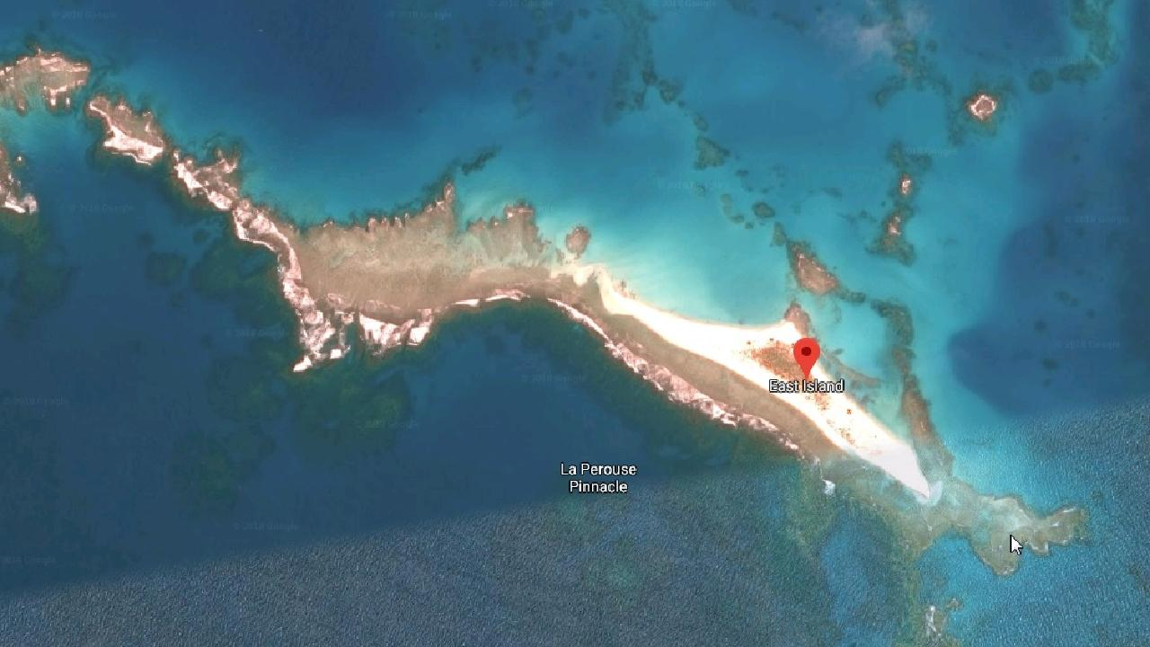 East Island was home to hundreds of endangered species of animals. Picture: Google Maps