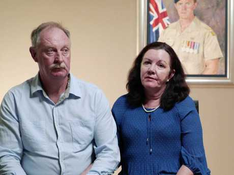 Peter and Marie Robinson, whose son Rowan was fatally shot by a Taliban sniper in Afghanistan in 2011.