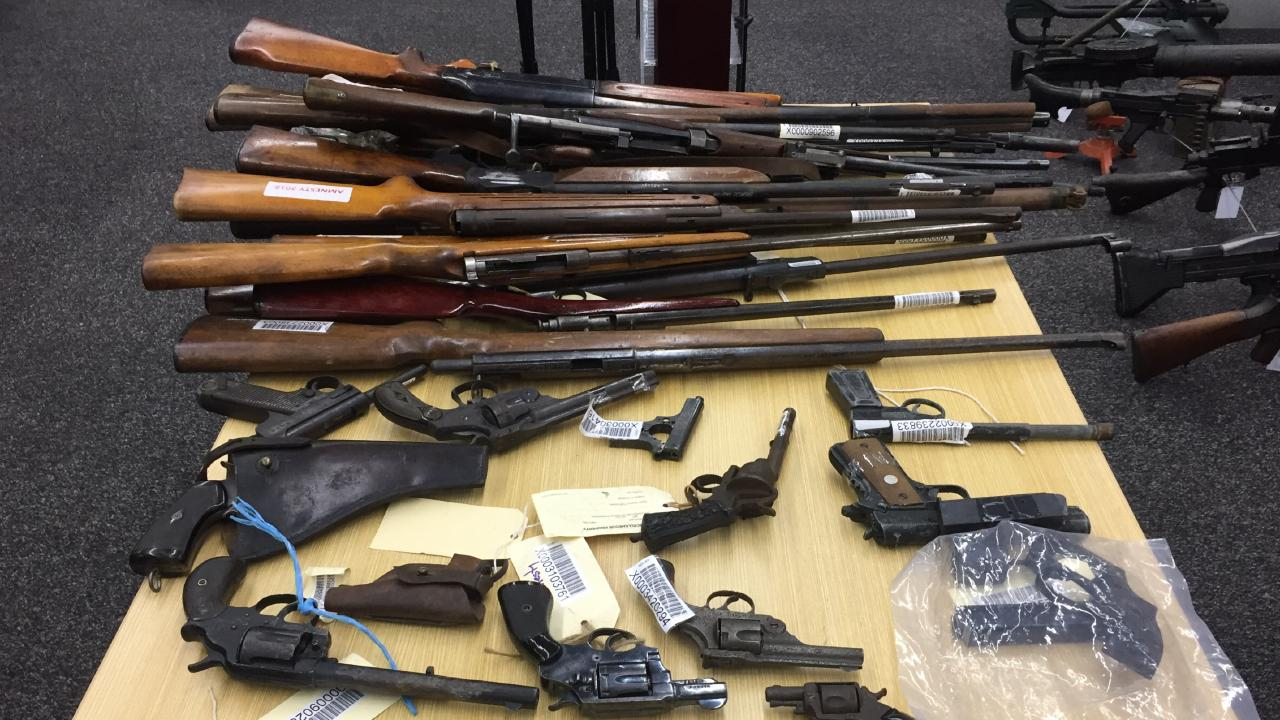 Of the 8300 weapons seized, there were 413 shotguns and 1373 rifles. Picture: Derrick Krusche