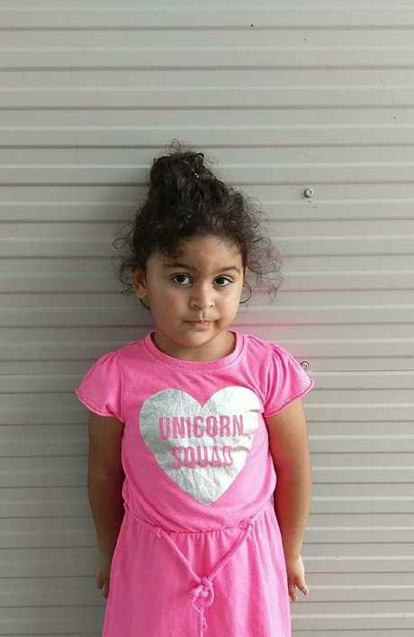 Melanie, aged 3, remains on Nauru. This picture was taken on October 23, 2018.