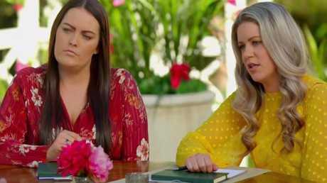L: Best friend Jess. R: Ali's boring cousin