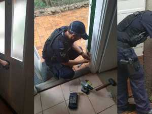 Cops' heartwarming tradie act goes viral