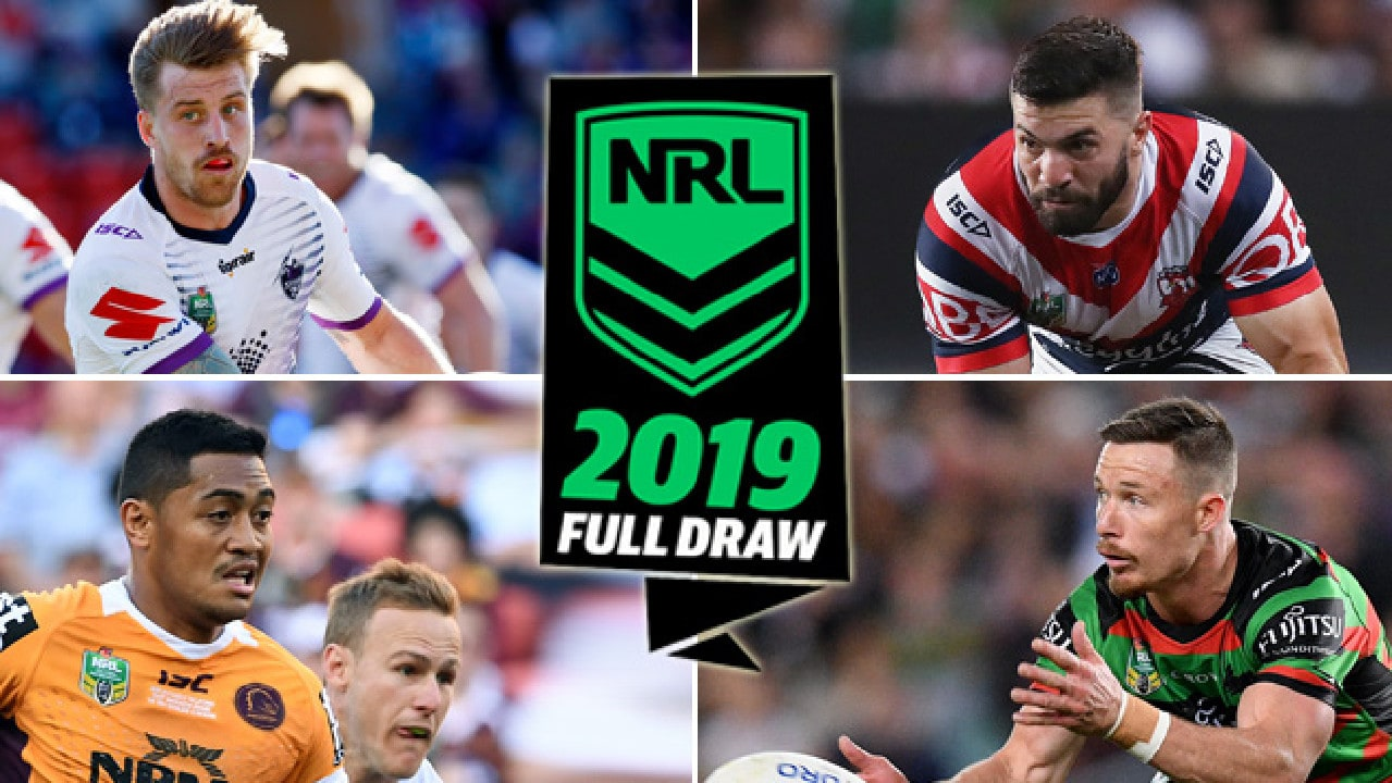 The NRL draw for season 2019 has been released.