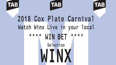 Limited edition Winx TAB tickets will be offered in selected venues across
