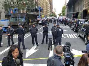 New York in lockdown over pipe bomb threats