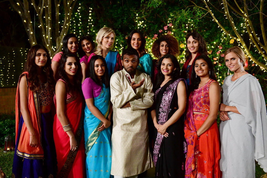 Nazeem Hussain pictured in the Indian Bachelor sketch from his new comedy series Orange is the New Brown.