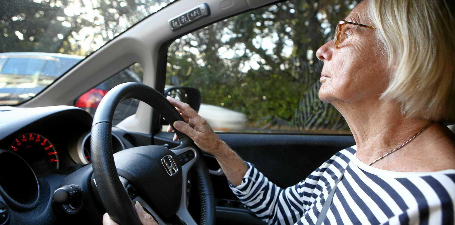 THREE AND NINE: Gisela Bernet behind the wheel.