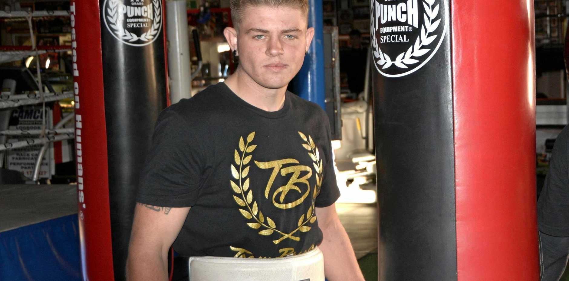 Exciting Toowoomba prospect Chris Brackin returns to the ring at Rumours International next Saturday night.