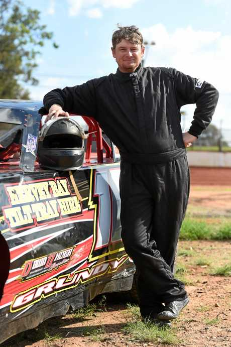 Local driver Sam Grundy is hoping to come away with a win in the super sedans this weekend.