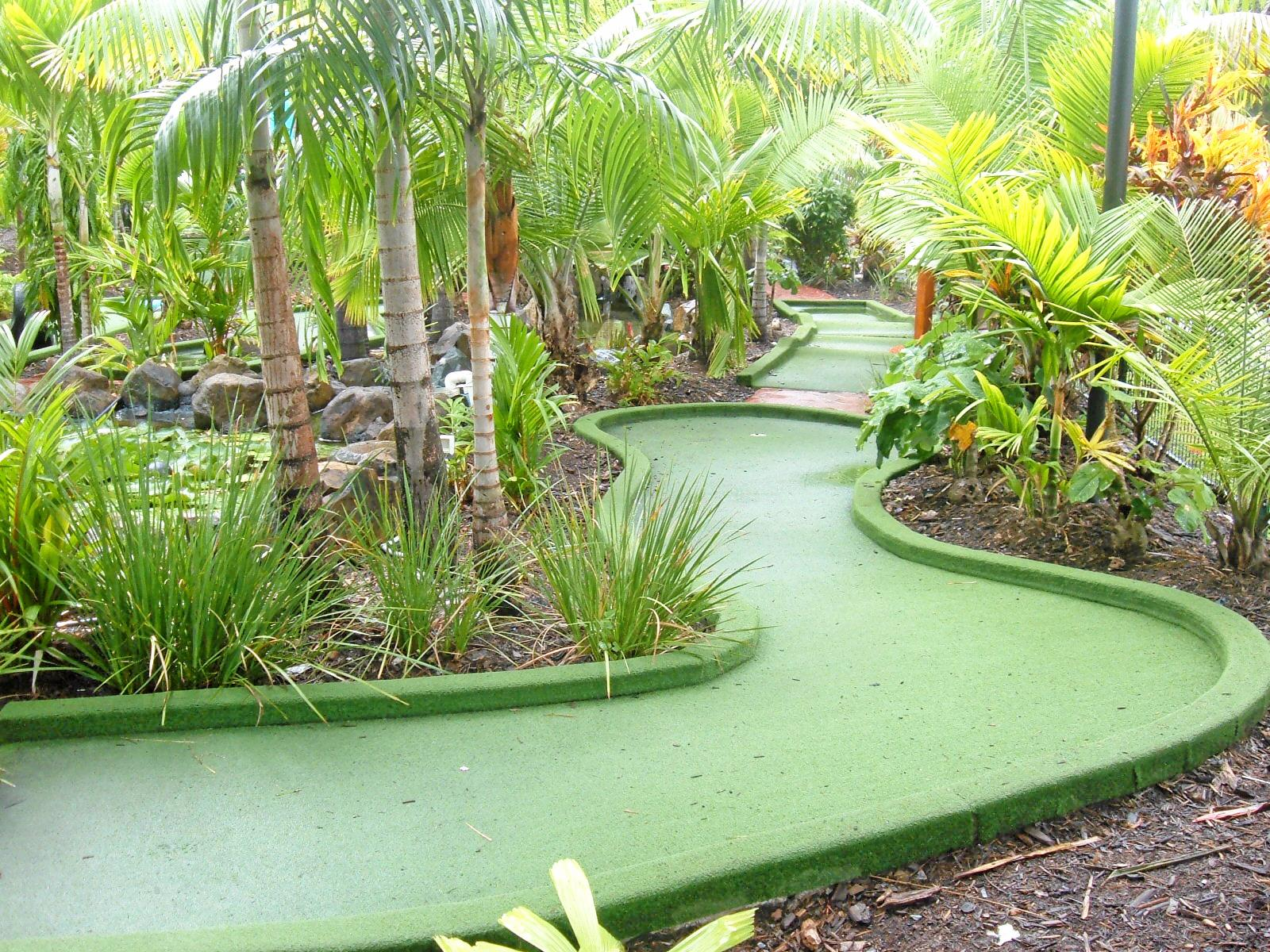 INTRICATE: The mini golf course at Big 4 Adventure Whitsunday Resort, Airlie Beach offers plenty of twists and turns.