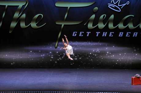 DANCE OFF: Bundabergs Coco Suosaari, 11, is off to the USA after taking out the national title in the Get the Beat dance competition.