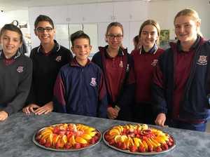 Students serve platters of mental health, hospitality