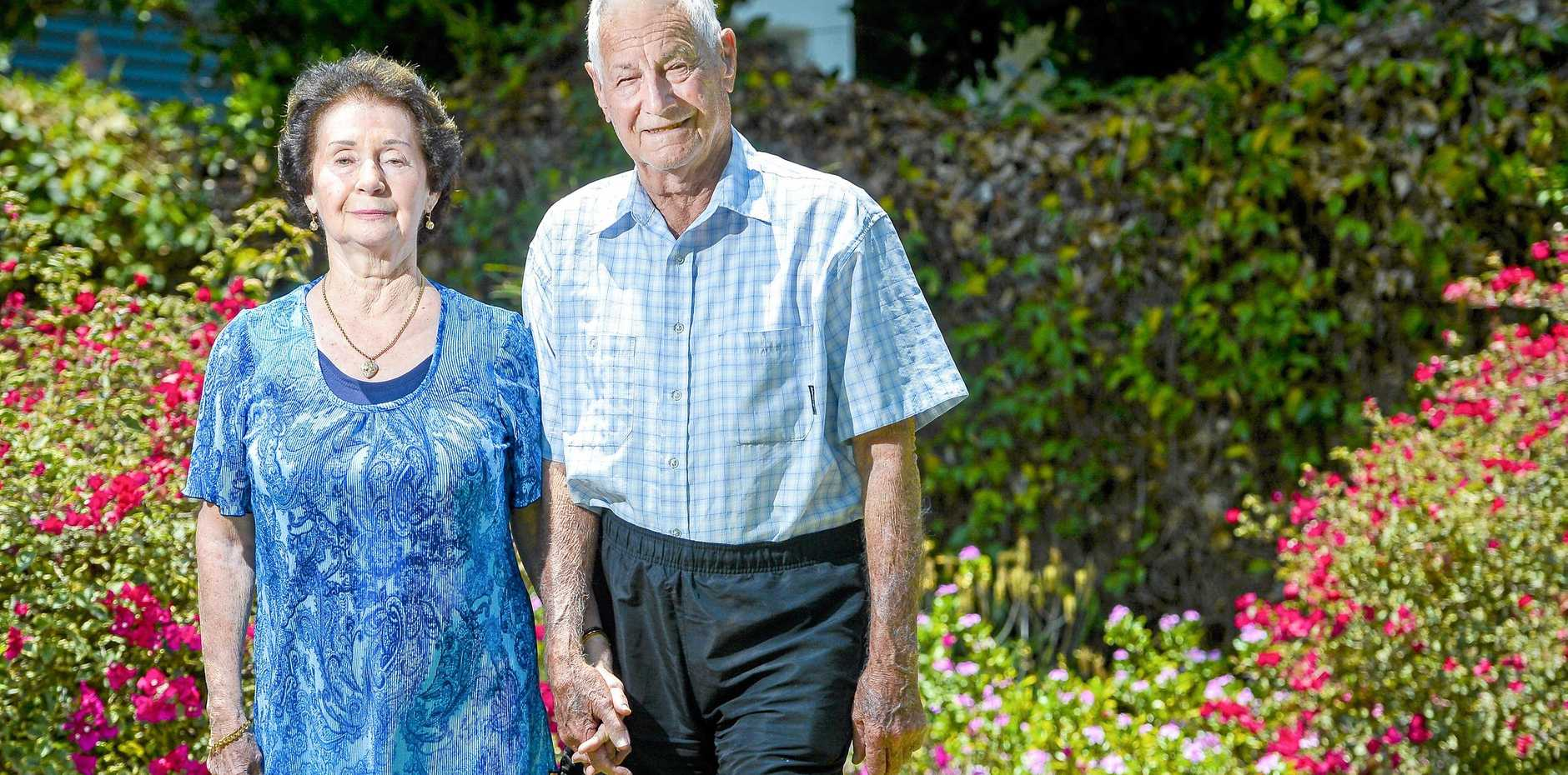 PROUD COUPLE: Gladstone couple Carmel and Errol Hausheer celebrated their 60th wedding anniversary on October 11, 2018.