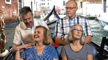 ITALIAN TALE: Clem van der Weegen, Sarah Blaikie, Martin Harding and Kirsty White in Four Flat Whites in Italy at The Lind.
