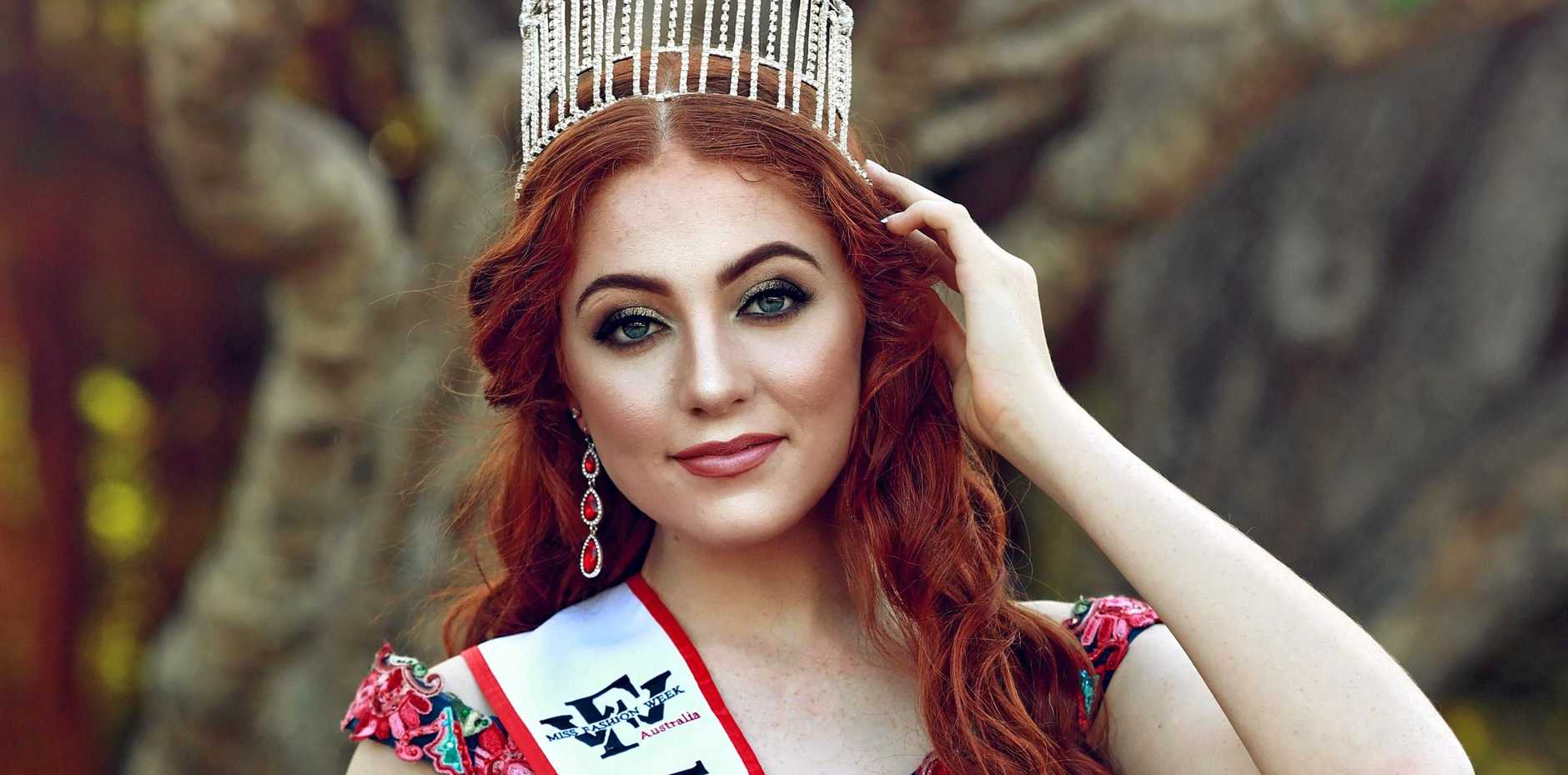 RUNWAY STAR: Jacquelyn Watts will represent Australia at Miss Teen Fashion Week International 2019 in Dallas, US in December.