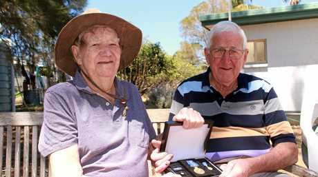 John Brady (right) said his good mate Bob Keogh will always hold a special place in his heart.