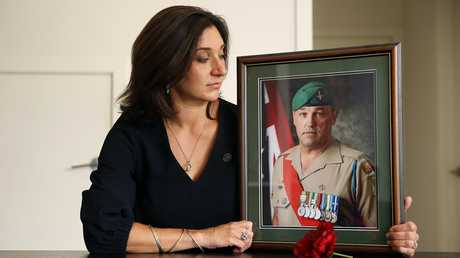 Gwen Cherne has shared her difficult story on countless occasions to raise awareness of the issue of PTSD and mental illness in the veteran and veterans' families communities. Picture: Sam Ruttyn