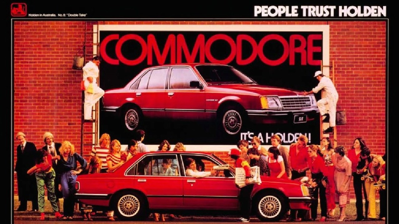 An original Holden Commodore advertisement from 1978. Picture: Supplied.