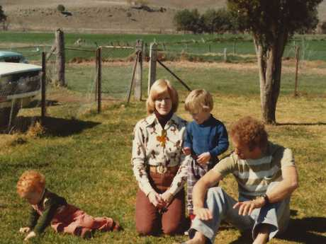 The Donaldson family in the country in the early 1980s.
