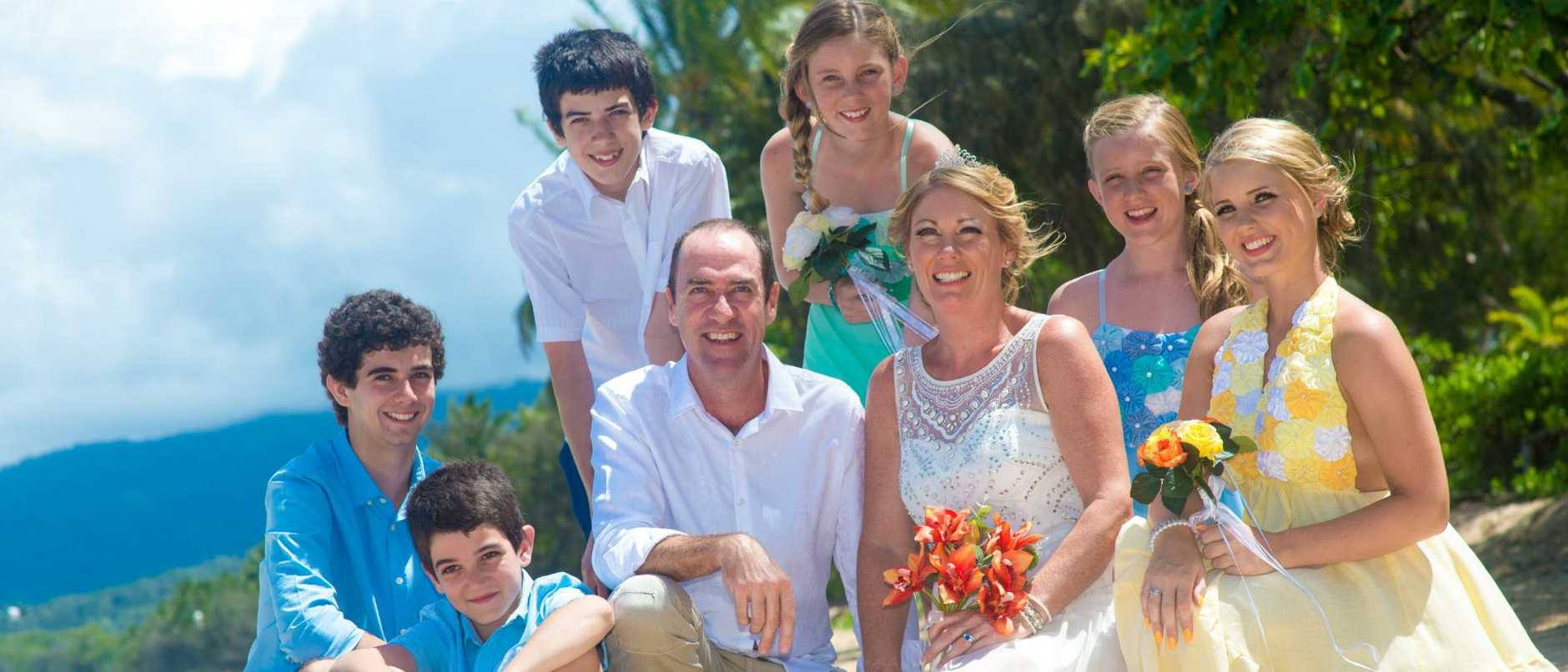 Dave and Lea Taverner with their six children Courtney, Nikolas, Lochlan, Kieran, Jasmine and Amber are affectionately known as the Brady Bunch.