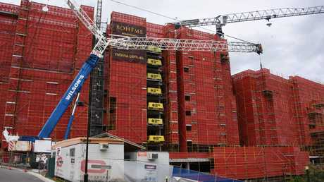 Cullen Group Australia was working on Boheme Apartments at Robina when the company collapsed. Picture: Steve Holland