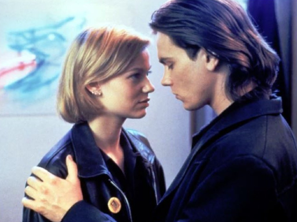 River Phoenix and Samantha Mathis in his final role, That Thing Called Love. Picture: Supplied