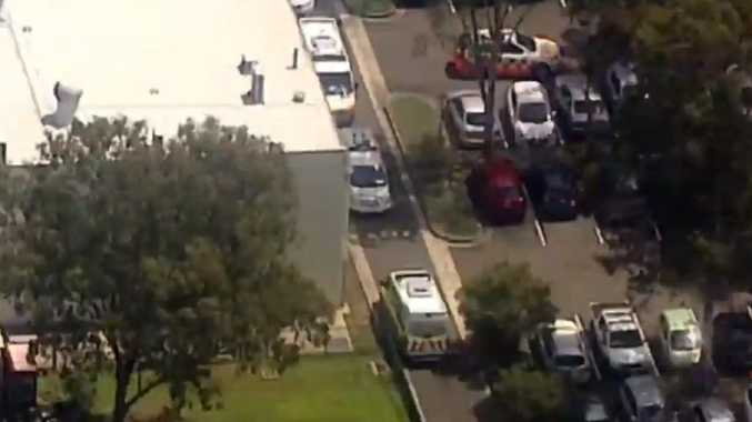 Emergency services were called to the Sydney high school. Picture: Seven News