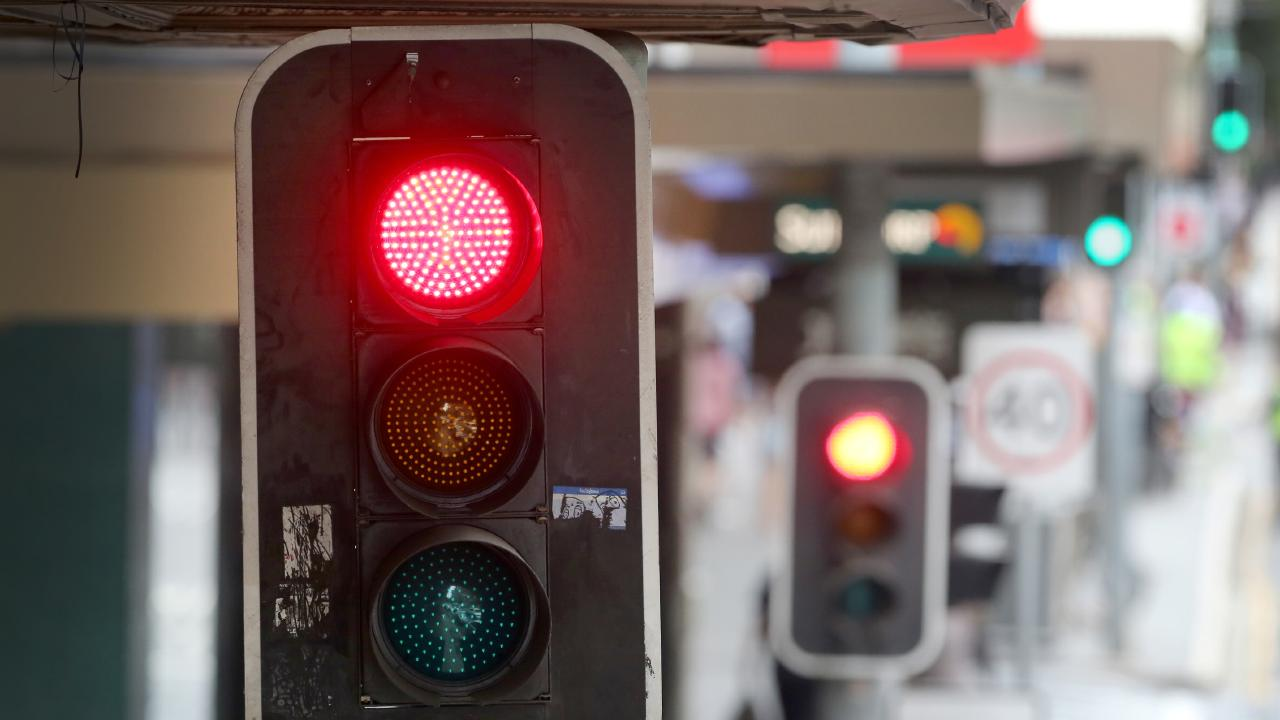 Red light rule confusing drivers. Picture: Jono Searle/AAP