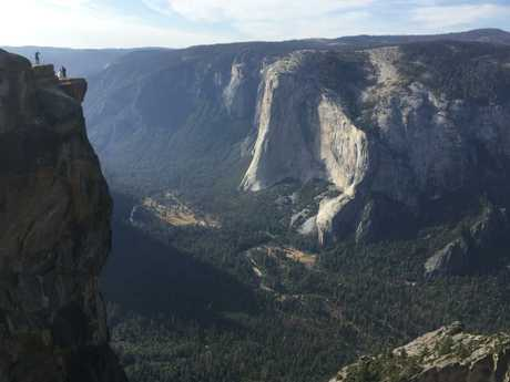 The stunning Taft Point lookout is a popular place for proposals. Picture: AP/Amanda Lee Myers