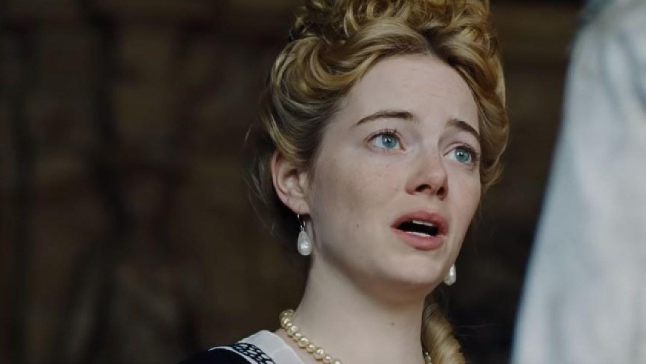 Emma Stone stars in The Favourite.