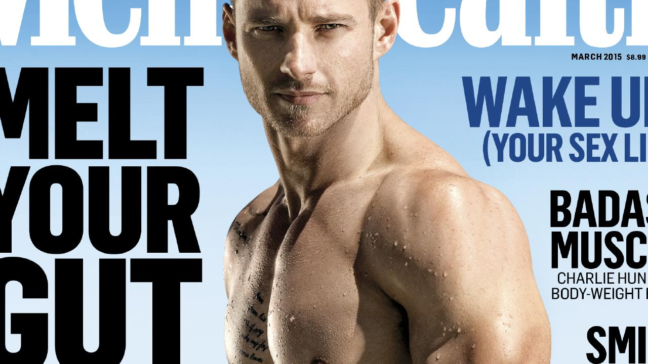 A pretty typical men's magazine cover. Pic: Men's Health