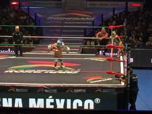 Lucha Libre mini wrestlers battle it out in Mexico City