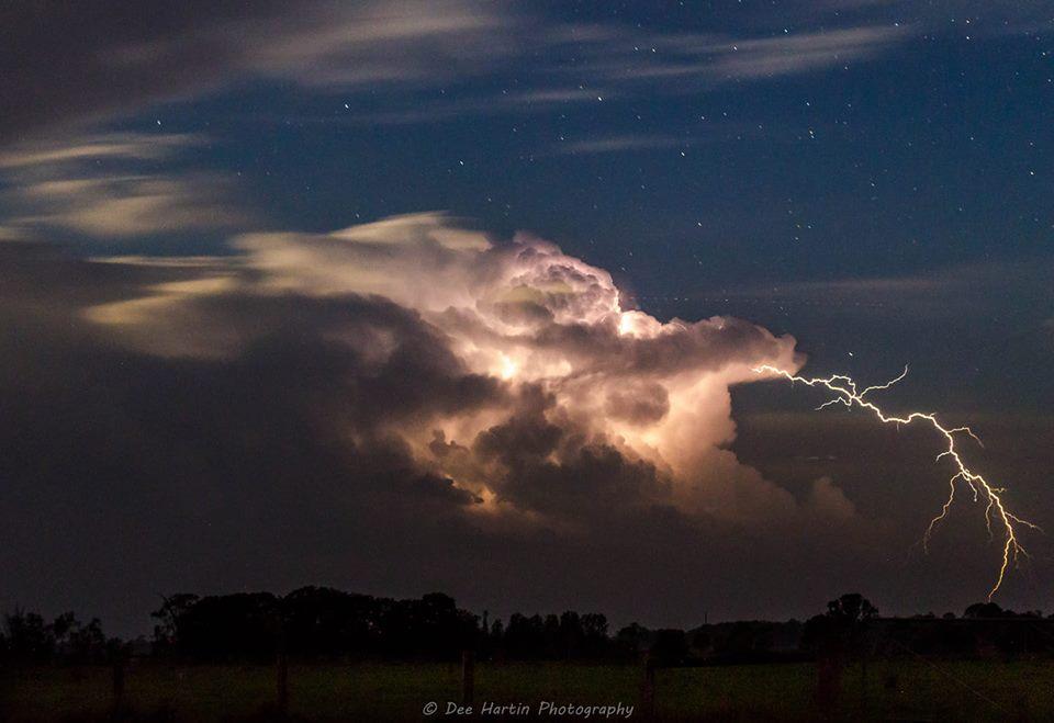 Casino photographer Dee Hartin took this spectacular image of last night's storm.