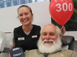 Toowoomba man makes 300th life-saving donation