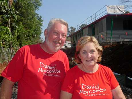 NEW BUILD: Bruce and Denise Morcombe outside Daniel House.