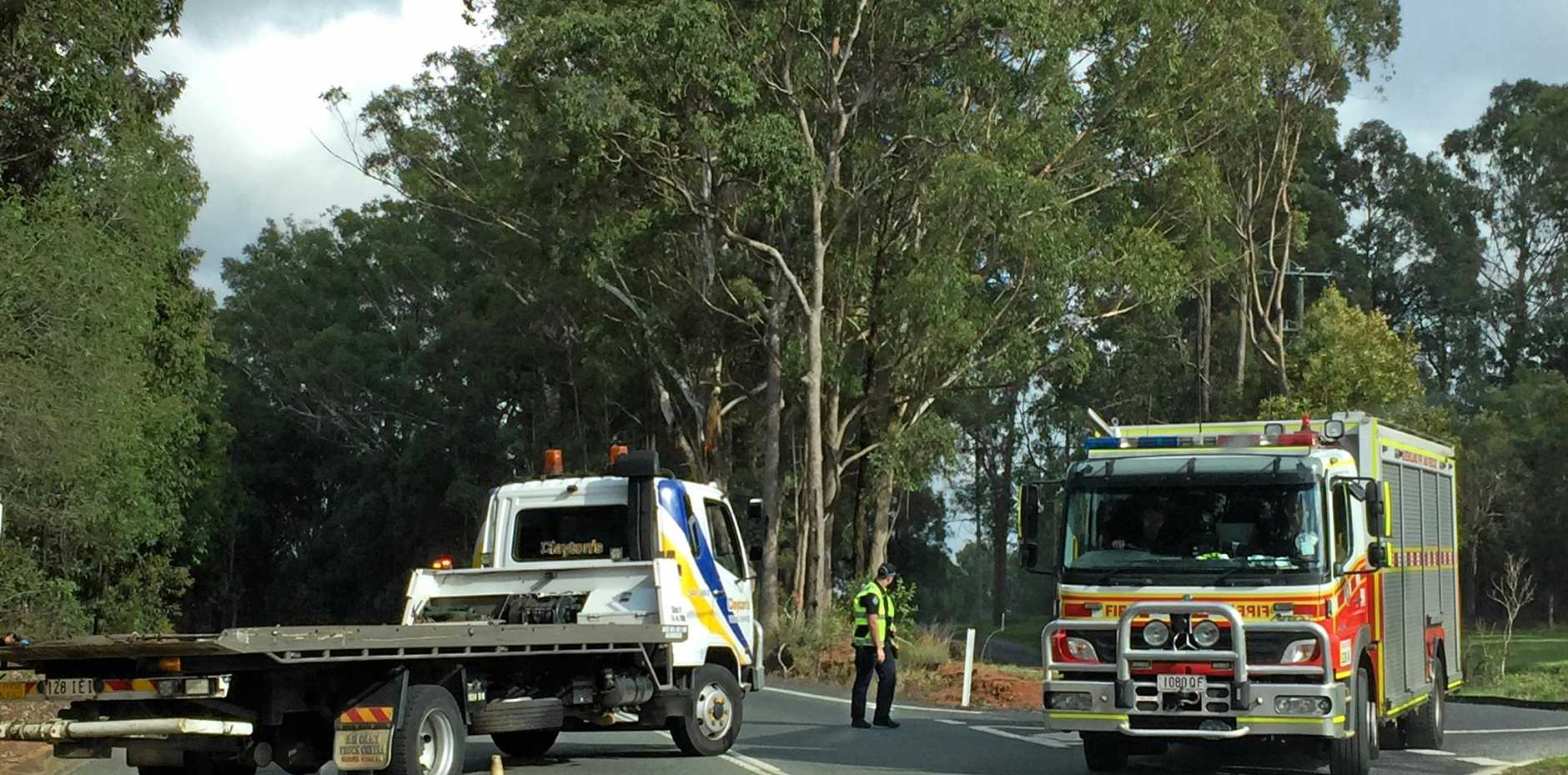 Emergency services were called to the D'Aguilar Highway, Wamuran about 5.55am in response to a major traffic crash.