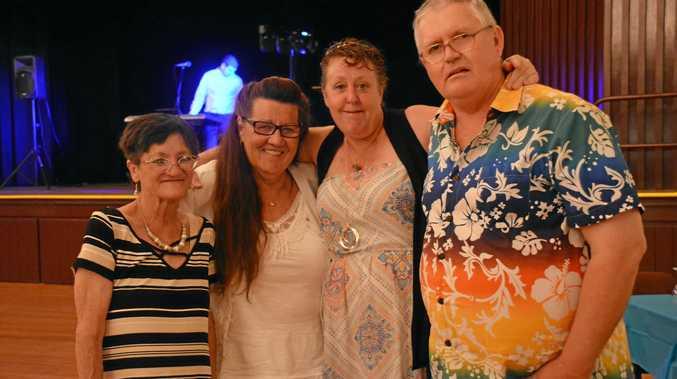 AT THE BALL: Debbie Murphy, Suzann Johnston, Shirley Mason and Gavin Macleod at the White Dove Ball in Kingaroy on Friday October 26.